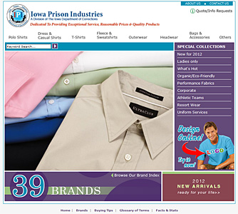 Apparel WebSite Screenshot