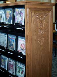End panels at Carnegie Stout Library