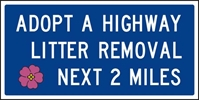 ADOPT A HIGHWAY LITTER REMOVAL 48X24