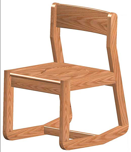Ames Wood 2 Position Chair Iowa Prison Industries