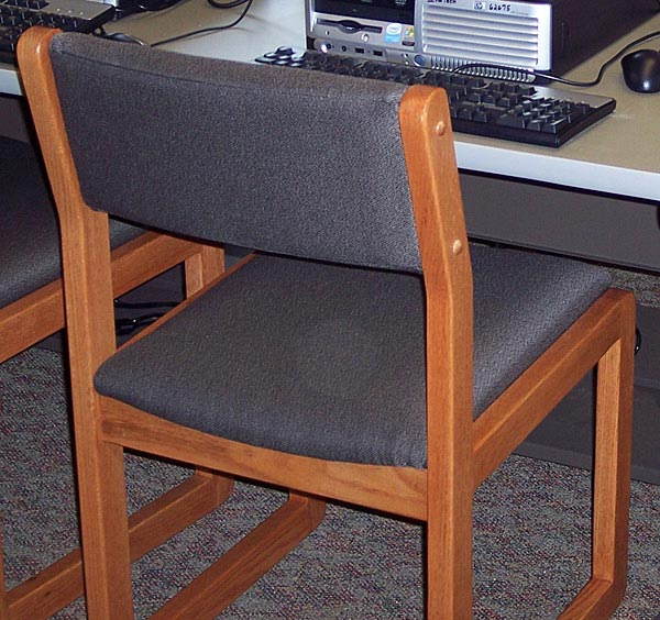 Ames Upholstered Sled Base Chair Iowa Prison Industries