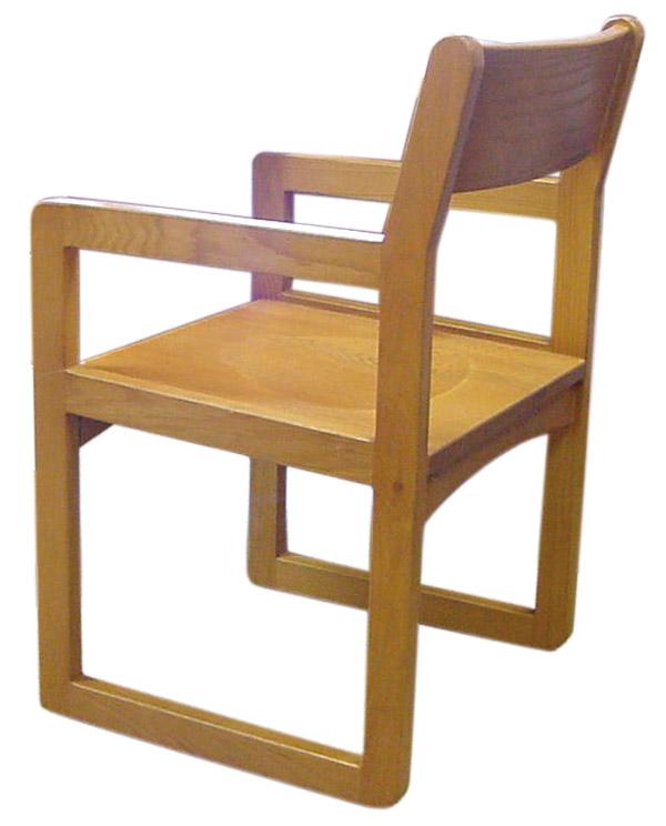 Ames Wood Sled Base Chair   FAMESSLEDWD ...