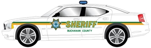 Sheriff Car Decal Set