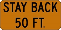 ISI1: STAY BACK 50 FT. 24X12