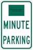 ISI100: ( # ) MINUTE PARKING 12X18