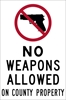 ISI74: NO WEAPONS ALLOW ON COUNTY PROPERTY DECAL 4X6