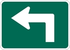M5-1L: BICYCLE RTE ADVANCE TURN ARROW LEFT 12X9