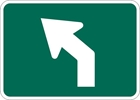 M5-2L: BICYCLE RTE ADVANCE TURN ARROW 45 DEG LEFT 12X9