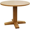 Mission Pedestal Table, Laminate Top