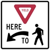 R1-5L: YIELD HERE TO PEDESTRIANS LEFT 36X36