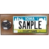License Plate Plaque with Clock, Large