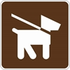 RS-017: PETS ON LEASH SYMBOL 18X18
