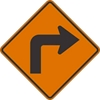 W1-1R: RIGHT TURN SYMBOL 48X48