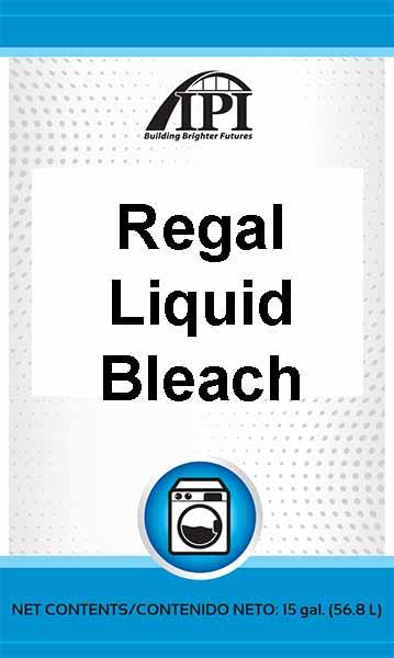 regal liquid bleach 15 gal drum iowa prison industries. Black Bedroom Furniture Sets. Home Design Ideas