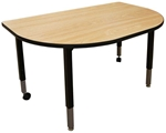 Modular Conference Table, D-Shape 30x48