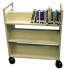 Metal Book Cart, Double-Sided