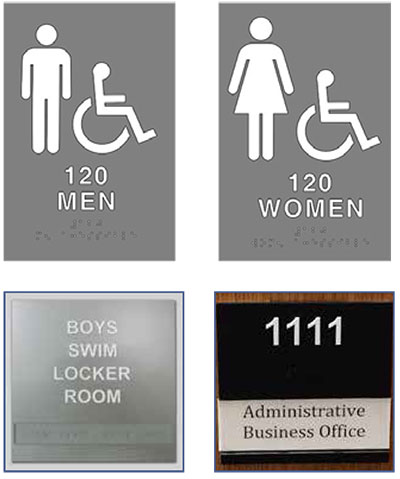 Fresh ADA & Interior Signs - Iowa Prison Industries MJ94