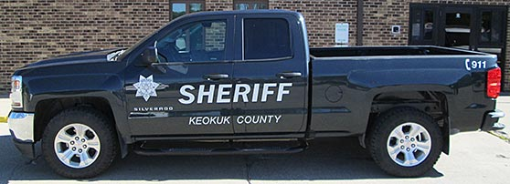 Black and White Sheriff Decals