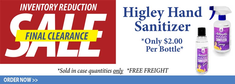 Sale on Higley Hand Sanitizers