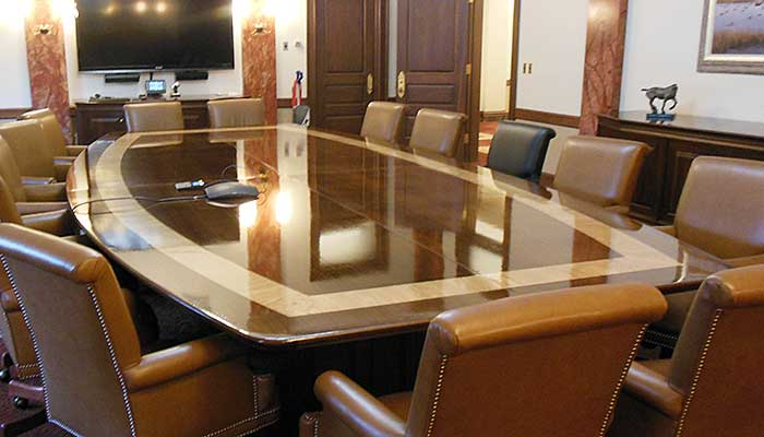 Elegant office conference room design wooden Futuristic Iowa Prison Industries Ipi Manufactures Custom Conference Room Furniture For Isu