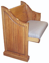 Upholstered Seat Wood Back