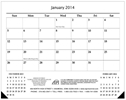 Monthly Desk Pad Calendar, 17x22