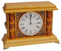 Mantle Clock, Large, Oak