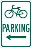 D4-3L: BICYCLE PARKING W/ LEFT ARW 12X18