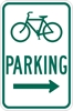 D4-3R: BICYCLE PARKING W/ RIGHT ARW 12X18
