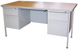 Metal Teachers Desks, 3/4 Panel