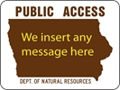 DNR15A: PUBLIC ACCESS WITH MESSAGE 24X18