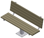 Single Post Benches
