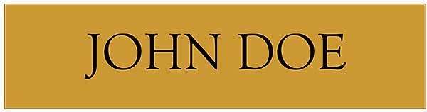 Nameplate Premium Brass-Gold, 10x2