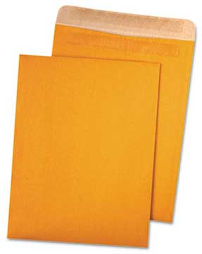 10x13 Brown Kraft Envelope, Latex Press & Seal Closure