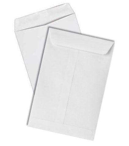 9x12 white envelope gummed closure iowa prison industries