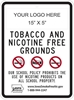 ISI145: (LOGO) TOBACCO & NICOTINE FREE SIGN 18X24