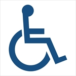 ISI156: Disabled - Wheelchair Parking Lot Stencil 48X48