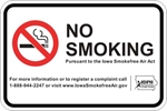 ISI19: IDPH NO SMOKING SIGN (WHITE) 18X12