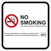 ISI21: IDPH NO SMOKING SIGN (WHITE) 12X12