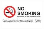 ISI21: IDPH NO SMOKING DECAL 6X4