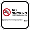 ISI21: IDPH NO SMOKING (WHITE) 8X8