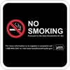 ISI22: IDPH NO SMOKING SIGN (BLACK) 12X12