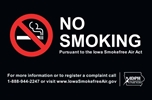 ISI22: IDPH NO SMOKING DECAL (BLACK) 8.75X5.75