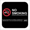 ISI22: IDPH NO SMOKING DECAL (BLACK) 8X8