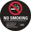 "ISI33: NO SMOKING DECAL BLACK 3""RND"