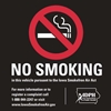 "ISI33: NO SMOKING DECAL BLACK 3""SQ"