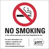 "ISI33: NO SMOKING DECAL WHITE 3""SQ"