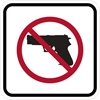 ISI70: NO WEAPONS SYMBOL 12X12