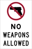 ISI71: NO WEAPONS ALLOWED DECAL 4X6
