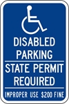 ISI93: DISABLED SYM W/ DIS PARK SPR ($ FINE) 12X18